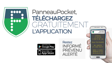 application panneau pocket information village